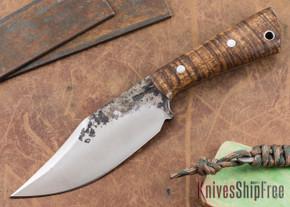 Lon Humphrey Knives: Custom Brute - Curly Koa - Clip Point #6