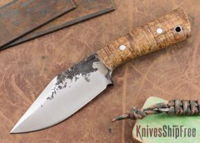 Lon Humphrey Knives: Custom Brute - Curly Koa - Clip Point #8