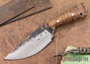 Lon Humphrey Knives: Custom Brute - Curly Koa - Drop Point #1