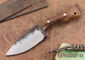 Lon Humphrey Knives: Custom Brute - Curly Koa - Drop Point #3