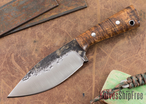 Lon Humphrey Knives: Custom Brute - Curly Koa - Drop Point #6