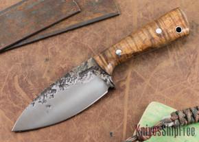 Lon Humphrey Knives: Custom Brute - Curly Koa - Spearpoint #1