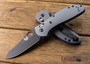 Benchmade Knives: 550BK-1 Griptilian - Gray G-10 - CPM 20CV - Black Sheepsfoot Blade