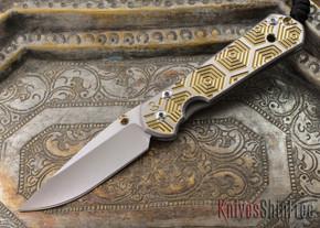 Chris Reeve Knives: Small Sebenza 21 - CGG Hex Gold