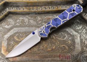 Chris Reeve Knives: Small Sebenza 21 - CGG Hex Blue