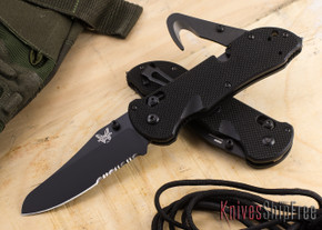 Benchmade Knives: 915SBK Triage - Serrated Black Blade - Rescue Knife