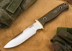 Vehement Knives: Kuto Misa - Green Canvas Micarta - Satin