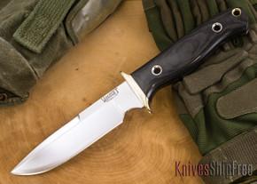 Vehement Knives: Kuto Misa - Black Canvas Micarta - Satin