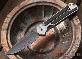 Chris Reeve Knives: Large Sebenza 21 - Bog Oak - Basketweave Damascus - 062907