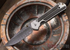 Chris Reeve Knives: Large Sebenza 21 - Bog Oak - Basketweave Damascus - 062908
