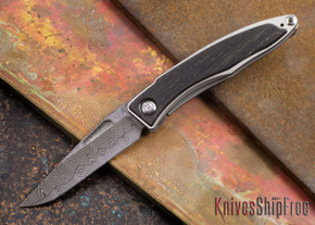 Chris Reeve Knives: Mnandi - Bog Oak - Basketweave Damascus - 072708