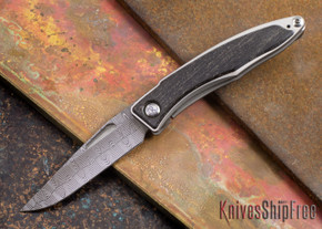 Chris Reeve Knives: Mnandi - Bog Oak - Basketweave Damascus - 072709
