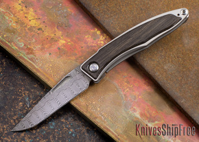 Chris Reeve Knives: Mnandi - Bog Oak - Basketweave Damascus - 072710