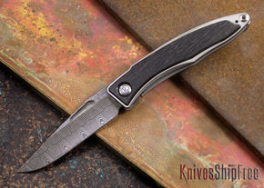 Chris Reeve Knives: Mnandi - Bog Oak - Basketweave Damascus - 072711