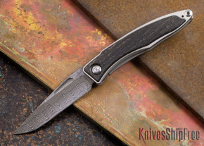 Chris Reeve Knives: Mnandi - Bog Oak - Basketweave Damascus - 072712