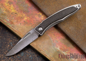 Chris Reeve Knives: Mnandi - Bog Oak - Basketweave Damascus - 072713
