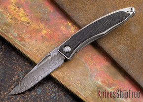 Chris Reeve Knives: Mnandi - Bog Oak - Basketweave Damascus - 072714