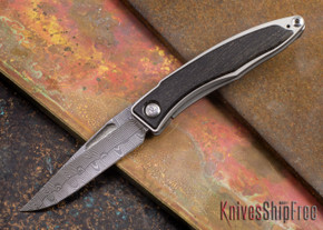 Chris Reeve Knives: Mnandi - Bog Oak - Basketweave Damascus - 072715