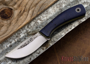 Fiddleback Forge: KPH - Navy Burlap - Black/Yellow Liners - A2 Steel