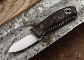 Fiddleback Forge: Runt - Python Micarta - Black/White Liners - A2 Steel