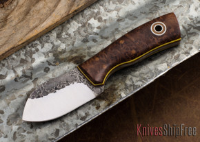 Fiddleback Forge: Neckmuk - Maple Burl - Natural/Yellow Liners - A2 Steel