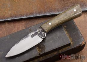 Lon Humphrey Knives: Custom Whitetail - Green Micarta - 080902