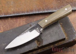 Lon Humphrey Knives: Custom Whitetail - Green Micarta - 080904