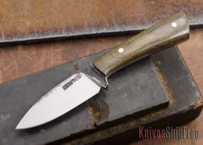 Lon Humphrey Knives: Custom Whitetail - Green Micarta - 080906