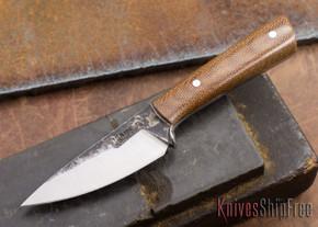 Lon Humphrey Knives: Custom Whitetail - Natural Micarta - 080913