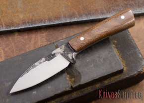 Lon Humphrey Knives: Custom Whitetail - Natural Micarta - 080914