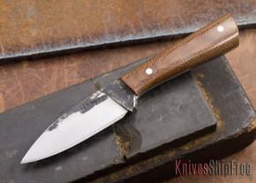 Lon Humphrey Knives: Custom Whitetail - Natural Micarta - 080915