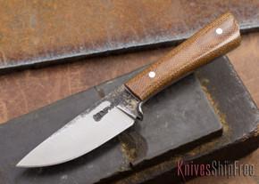 Lon Humphrey Knives: Custom Whitetail - Natural Micarta - 080917