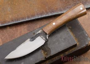 Lon Humphrey Knives: Custom Whitetail - Natural Micarta - 080918