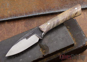 Lon Humphrey Knives: Custom Whitetail - Multicolor Burl - 080933
