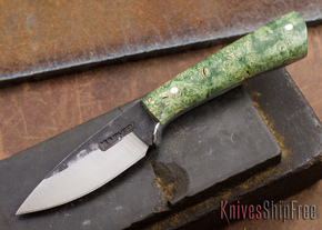 Lon Humphrey Knives: Custom Whitetail - Green Burl - 080938