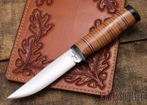 Cross Knives: Hunter Knife - Stacked Leather