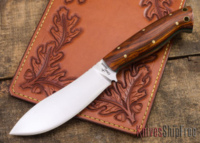 Cross Knives: NessMuk Knife - Cocobolo - Green Liners