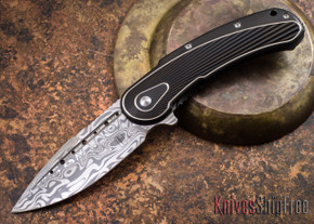Todd Begg Knives: Steelcraft Series - Bodega - Black Frame - Black Fan Pattern - Damasteel - 011