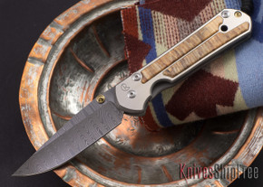 Chris Reeve Knives: Large Sebenza 21 - Spalted Beech - Ladder Damascus - 081806