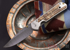 Chris Reeve Knives: Large Sebenza 21 - Spalted Beech - Ladder Damascus - 081807