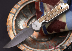 Chris Reeve Knives: Large Sebenza 21 - Spalted Beech - Ladder Damascus - 081808