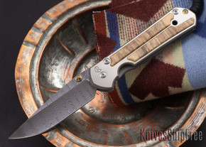 Chris Reeve Knives: Large Sebenza 21 - Spalted Beech - Ladder Damascus - 081809