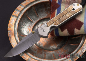 Chris Reeve Knives: Large Sebenza 21 - Spalted Beech - Ladder Damascus - 081811