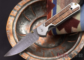 Chris Reeve Knives: Large Sebenza 21 - Thuya Burl - Basketweave Damascus - 081812