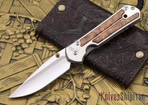Chris Reeve Knives: Large Sebenza 21 - Thuya Burl - 090105