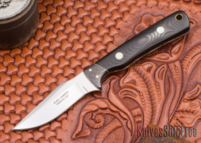 Alan Warren Knives: Harpoon - Black G-10 - Carbon Fiber
