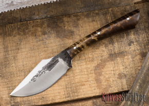 Lon Humphrey: Custom Muley - Forged 52100 - Dark Curly Maple #2
