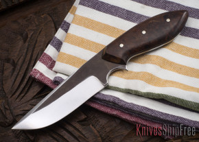 Carter Cutlery: #1087 Muteki Magnum Neck Knife - Ironwood - Black Liners