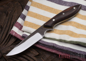 Carter Cutlery: #1148 Clip Point Original - Ironwood - Natural Canvas Liners