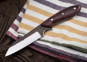 Carter Cutlery: #1145 Wharncliffe Brute - Dyed Elder Burl - Black Liners